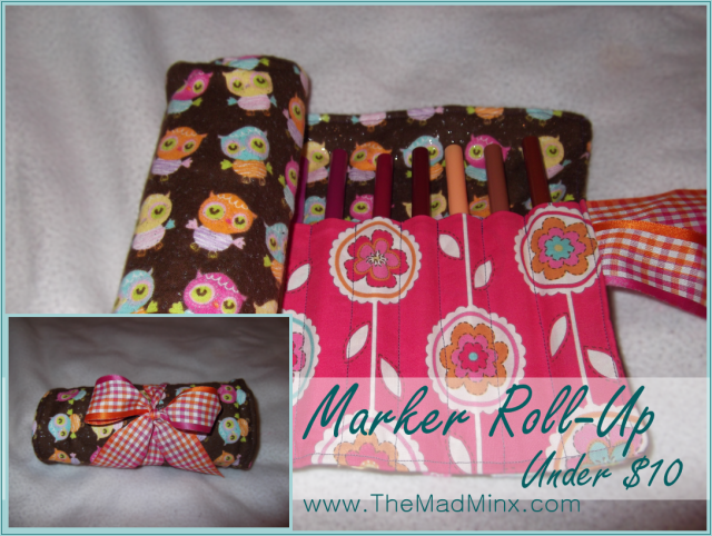 Marker Roll Up - Under 1 hour, under $10!  http://www.themadminx.com
